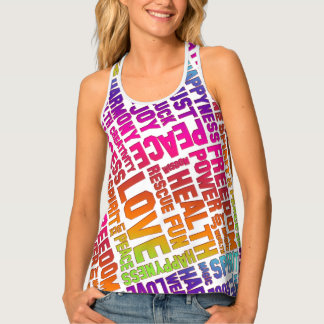 Spirit Affirmations of life colored + your backgr. Tank Top