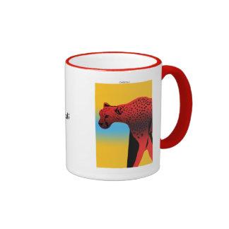 Spirit Animal Cheetah Ringer Coffee Mug