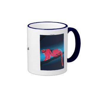 Spirit Animal Cougar Ringer Coffee Mug