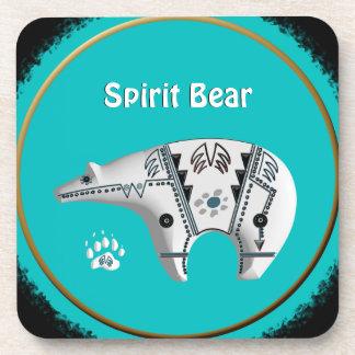 Spirit Bear Cork Coasters