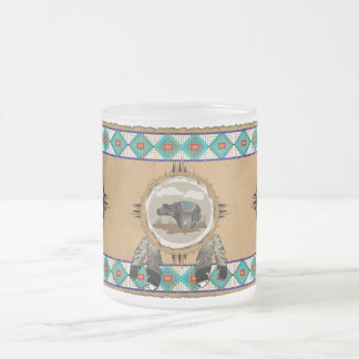 Spirit Bear Frosted Glass Mug