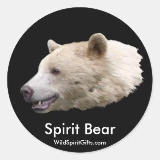 """Spirit Bear"" Gifts Classic Round Sticker"