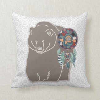 Spirit Bear Two-Sided Native American Themed Throw Pillow