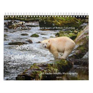Spirit Bears 2016 Calendar