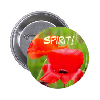 Spirit! buttons Red Oriental Poppy Flower