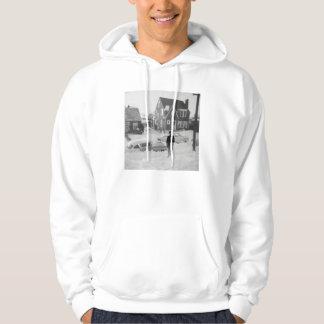 Spirit by the car 1950s man hoodie