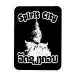 Spirit City - Wat Xieng Khuan, Vientiane, Laos Rectangle Magnets