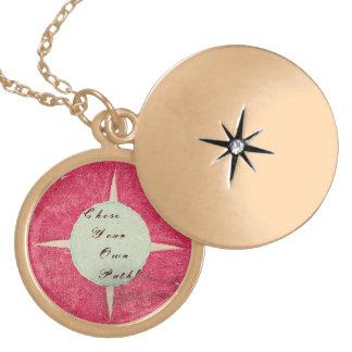 Spirit Compass Round Locket Necklace