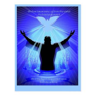 Spirit descending like a dove postcard