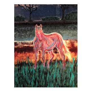 Spirit Dream Horse, Painted Postcard