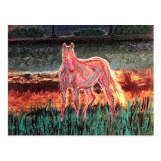 Spirit Dream Horse, Painted Postcard
