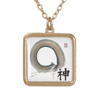 Spirit Enso, Kanji for spirit Custom Necklace
