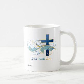 Spirit Faith Love Basic Coffee Mug - Solid White