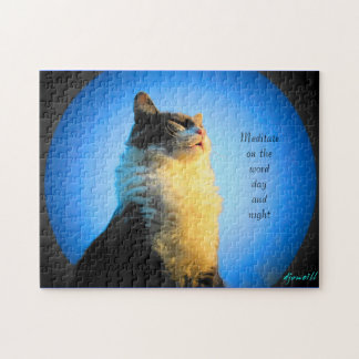 Spirit filled kitty jigsaw puzzle