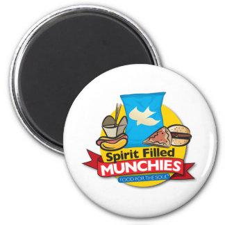 Spirit Filled Munchies 2 Inch Round Magnet
