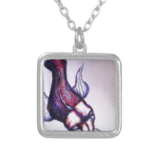 Spirit Fish Dragon Silver Plated Necklace
