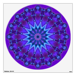 spirit flower power kaleidoscope fractal ART IV Wall Sticker