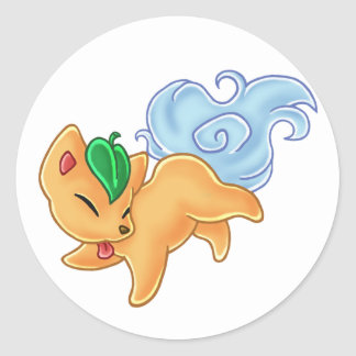 Spirit Fox Classic Round Sticker