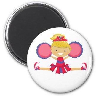 Spirit Girl Cheerleader 2 Inch Round Magnet
