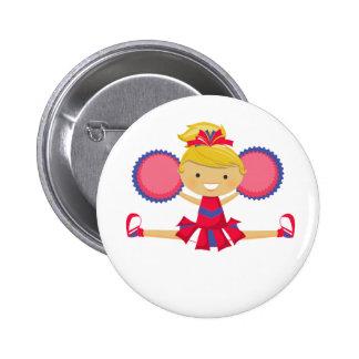 Spirit Girl Cheerleader Pinback Button