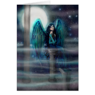 Spirit Guide Angel Fantasy Art by Molly Harrison Card