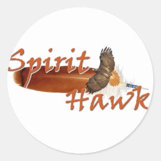 Spirit Hawk Classic Round Sticker