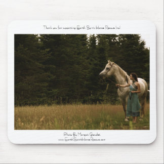 Spirit Horse and Woman Mouse Pad