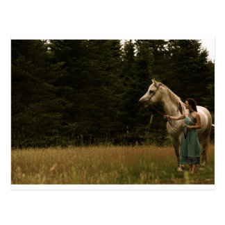 Spirit Horse and Woman Postcard
