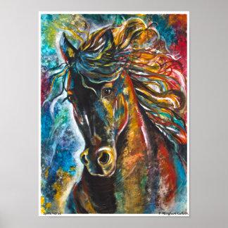 Spirit Horse Poster by P. Allingham Carlson