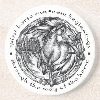 Spirit Horse Run Beverage Coaster