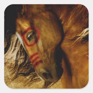 Spirit Horse Square Sticker