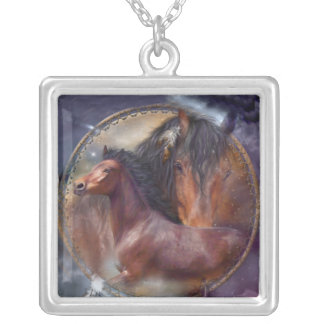 Spirit Horses Wearable Art Necklace