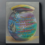 """Spirit Jar - Potter and Clay Plaque<br><div class=""""desc"""">Inspirational Bible verse, &quot;. . . Thou art our Father; we are the clay, and Thou our Potter; and we all are the work of Thy Hand.&quot; (Isaiah 64:8). Features Original Art &quot;Spirit Jar&quot; in soft pastels, a still life inspired by the hand-crafted Native American Spirit Jar. Vivid colors of...</div>"""