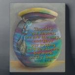 "Spirit Jar - Potter and Clay Plaque<br><div class=""desc"">Inspirational Bible verse, &quot;. . . Thou art our Father; we are the clay, and Thou our Potter; and we all are the work of Thy Hand.&quot; (Isaiah 64:8). Features Original Art &quot;Spirit Jar&quot; in soft pastels, a still life inspired by the hand-crafted Native American Spirit Jar. Vivid colors of...</div>"