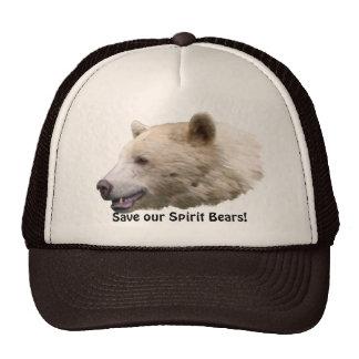 Spirit Kermode Bear Wildlife Supporter Trucker Cap Mesh Hat