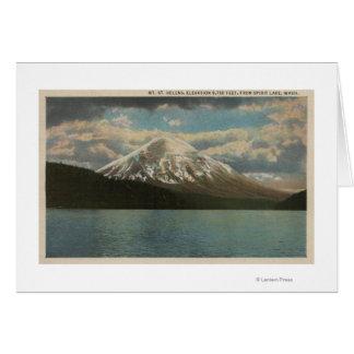 Spirit Lake, WA - View of Mt. St. Helens Card