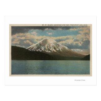 Spirit Lake, WA - View of Mt. St. Helens Postcard