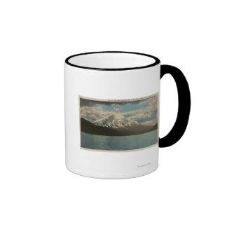 Spirit Lake, WA - View of Mt. St. Helens Ringer Coffee Mug