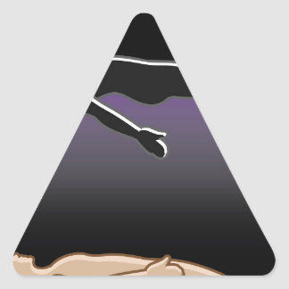Spirit Leaves the Body Reincarnation Afterlife Triangle Sticker