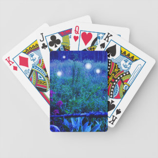 Spirit Lights Blue Night Marshy Meadow Orbs Bicycle Playing Cards