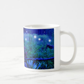 Spirit Lights Blue Night Marshy Meadow Orbs Coffee Mug