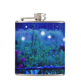 Spirit Lights Blue Night Orbs Spirits Hip Flask