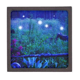 Spirit Lights Blue Night Scene Keepsake Box
