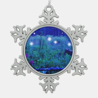 Spirit Lights Orbs Marshy Meadow Blue Ornament