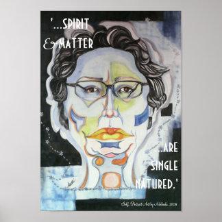 'Spirit & Matter...are Single Natured' Poster