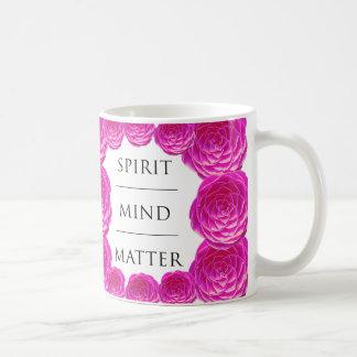 Spirit Mind Matter Pink Rose Classic White Coffee Mug