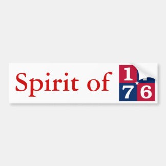 Spirit Of 1776 Bumper Sticker