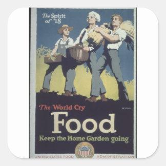 Spirit_of_'18._The_World_Propaganda Poster Square Sticker