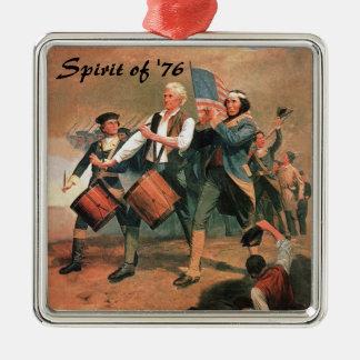 Spirit of '76 square metal christmas ornament