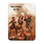 Spirit of  '76. Patriotic Fine Art Gift Magnet Rectangular Magnets